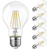 LVWIT Bombillas de Filamento LED E27 (Casquillo Gordo)