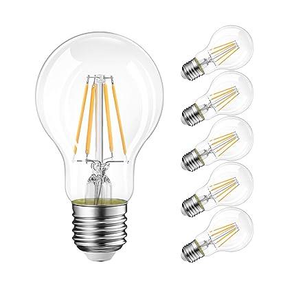 LVWIT Bombillas de Filamento LED E27 (Casquillo Gordo) - 4W equivalente a 40W,