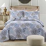 Dodou Garden Theme European Style Quilt Patchwork Bedspread/Quilt Sets 100% Cotton Queen Size 3pcs