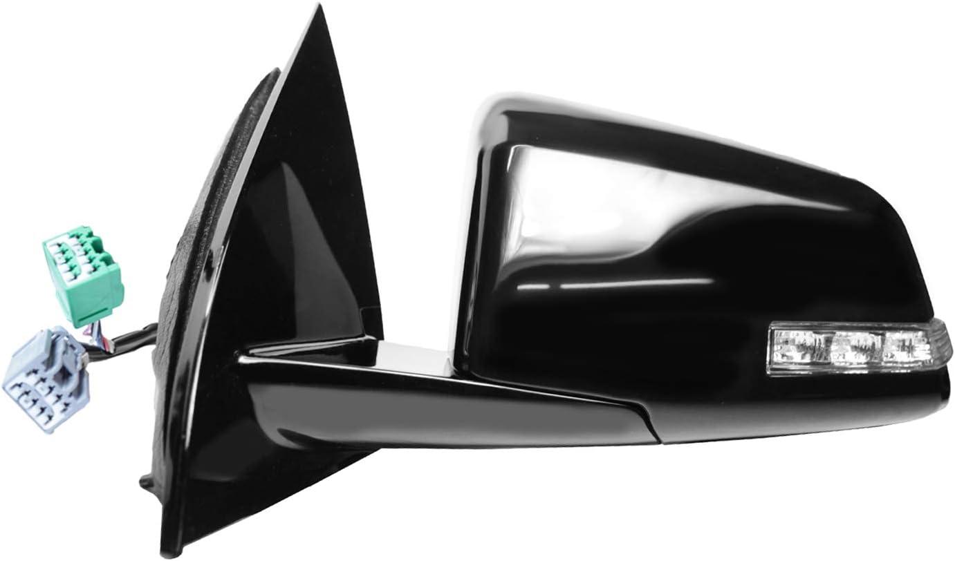 Heated Power 1st design, black w//PTM housing, w//memory, w//turn signal, power folding Passenger Side Mirror for GMC Acadia RH SATURN Outlook,
