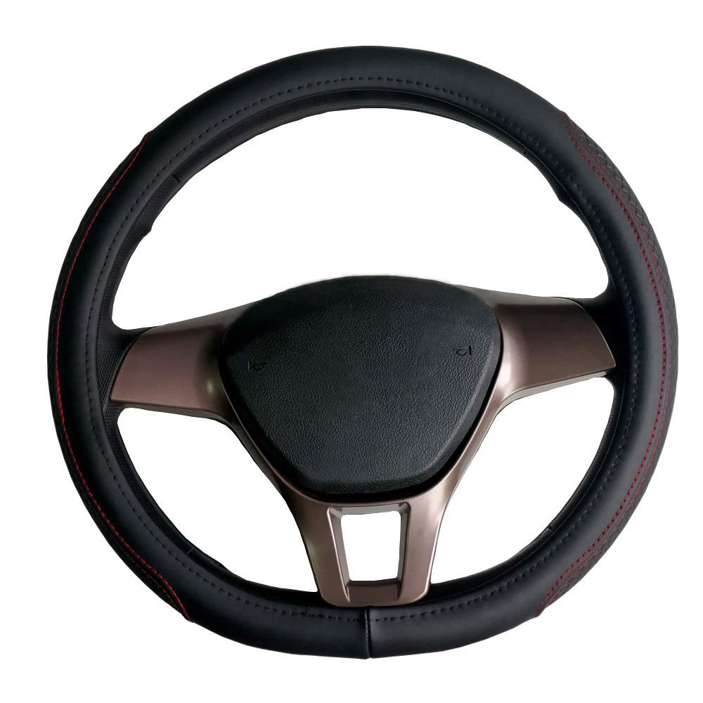 Auto Lenkradabdeckung gewebtes Muster rutschfest verschlei/ßfest 38 cm f/ür INSIGNIA