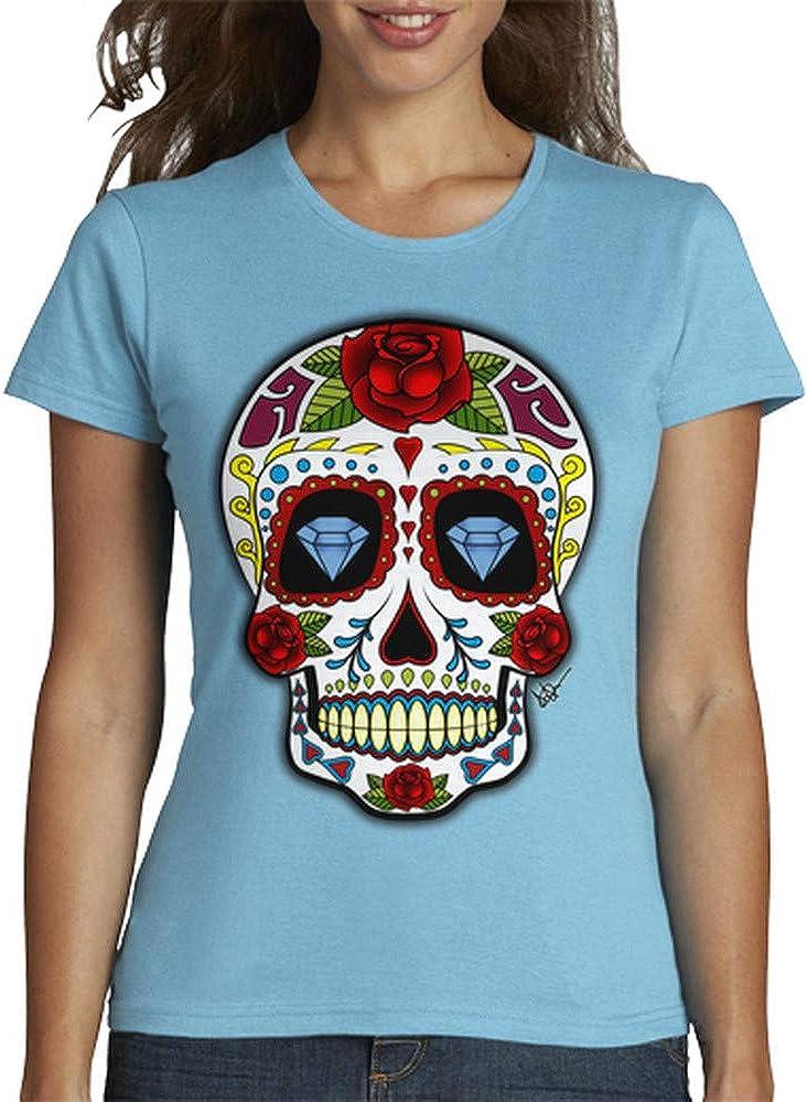 latostadora - Camiseta Calavera Mexicana para Mujer: Adrian Filmore: Amazon.es: Ropa y accesorios