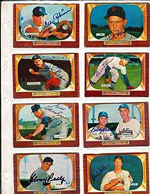 Bob Feller Cleveland Indians 134 Signed 1955 Bowman Baseball Card