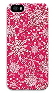 Simply Case Designs Pink Snowflake Design PC Material Hard Case For iphone 5/5s