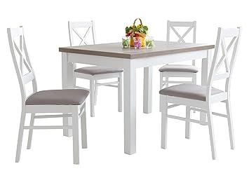 mb-moebel Holzgestellt Esstisch mit 4 stühlen: 110x70 oder ...