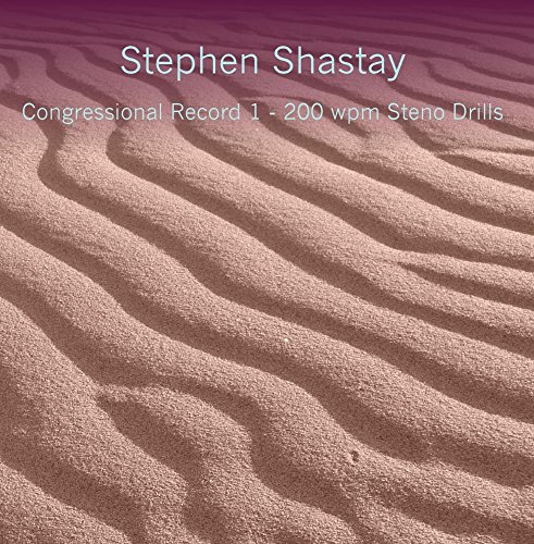 Price comparison product image Congressional Record 1 - 200 wpm Steno Drills