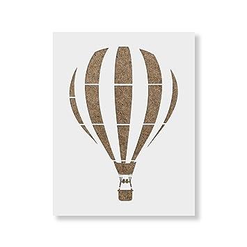 Heißluftballon Schablone Vorlage Wiederverwendbar Mit