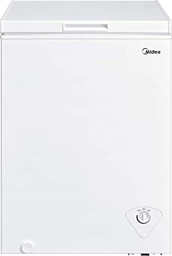 Midea MRC04M3AWW Single Door Chest Freezer, 3.5 Cubic Feet, White