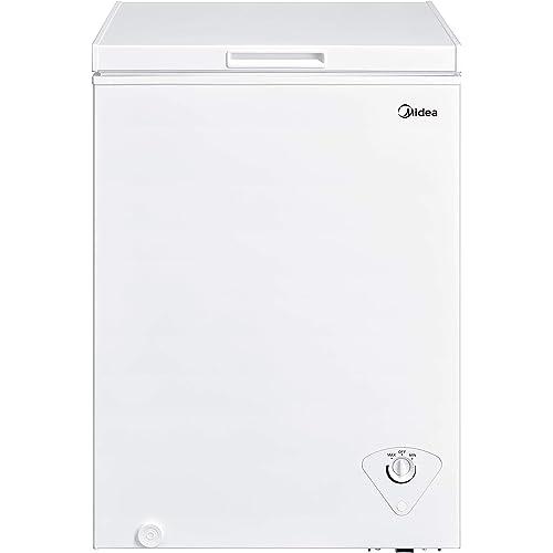 Midea MRC04M3AWW Single Door Chest Freezer, 35 Cubic Feet, White