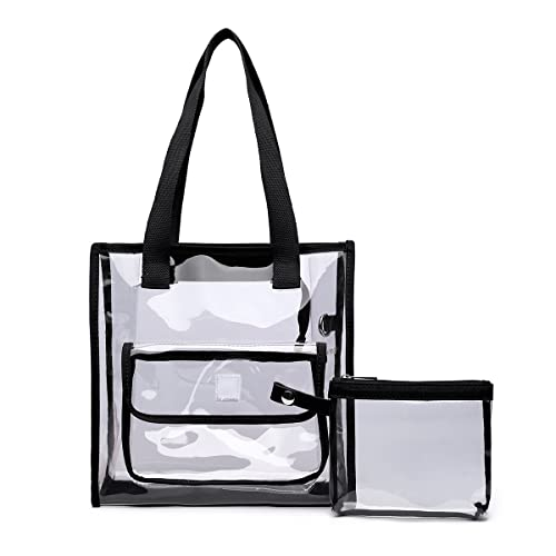 Amazon.com  Clear Bag Set Tote and Pouch Combo - 12