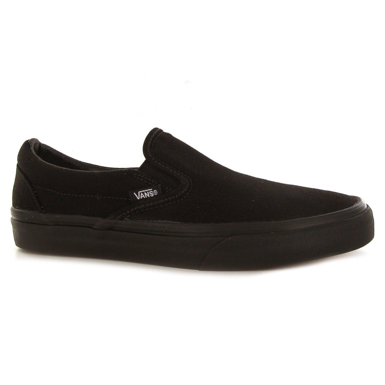7139bcc8209ee Galleon - Vans U Classic Slip-On Black Black VN000EYEBKA Mens 7.5