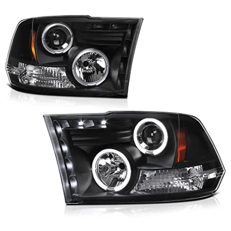 Venom Inc Headlights >> For 2009 2018 Dodge Ram 1500 2500 3500 Dual Led Halo Ring Black Projector Headlight Housing Headlamp Assembly Replacement Driver Passenger Side
