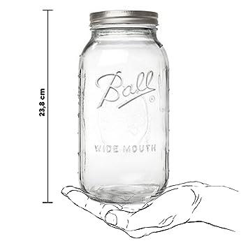 Koro Ball Mason Jar Wide Mouth 6er Set Vorratsgläser