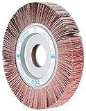 PFERD 45645 Unmounted Flap Wheel, Aluminum Oxide, 8'' Diameter x 1'' Width, 1'' Arbor Hole, 4700 RPM, 120 Grit