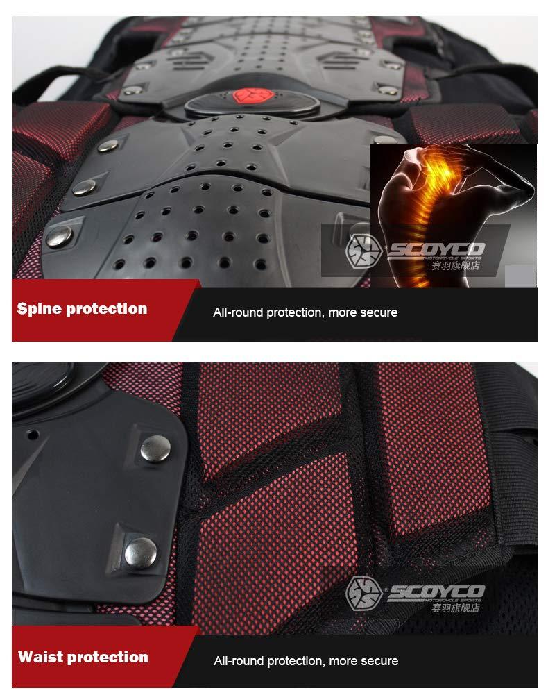 Scoyco AM02-2 Motocross body Armour Full body Protector Gears Racing Protective Guard Accessories (Medium, Black)
