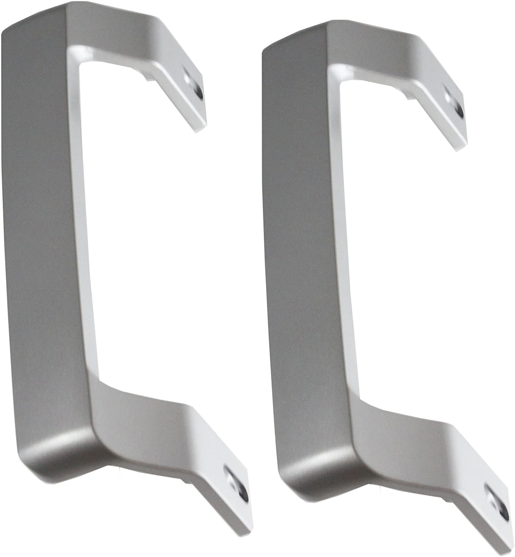 Spares2go - Tirador de puerta para frigorífico congelador Beko, 2 unidades, color plateado