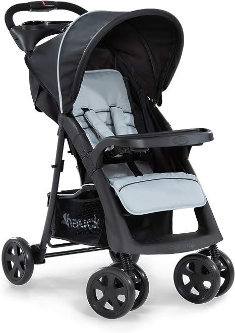 Opinión sobre Hauck Shopper Neo II - Silla de paseo con respaldo reclinable, de 0 meses a 25 kg, plegado fácil y compacto, plegable con una mano, ligera, con botellero, negro gris