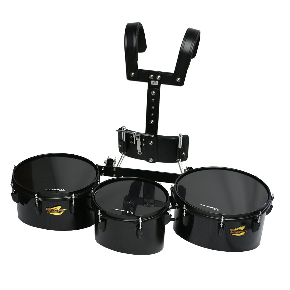 Trixon Field Series Pro Marching Toms - Set of 3 - Black
