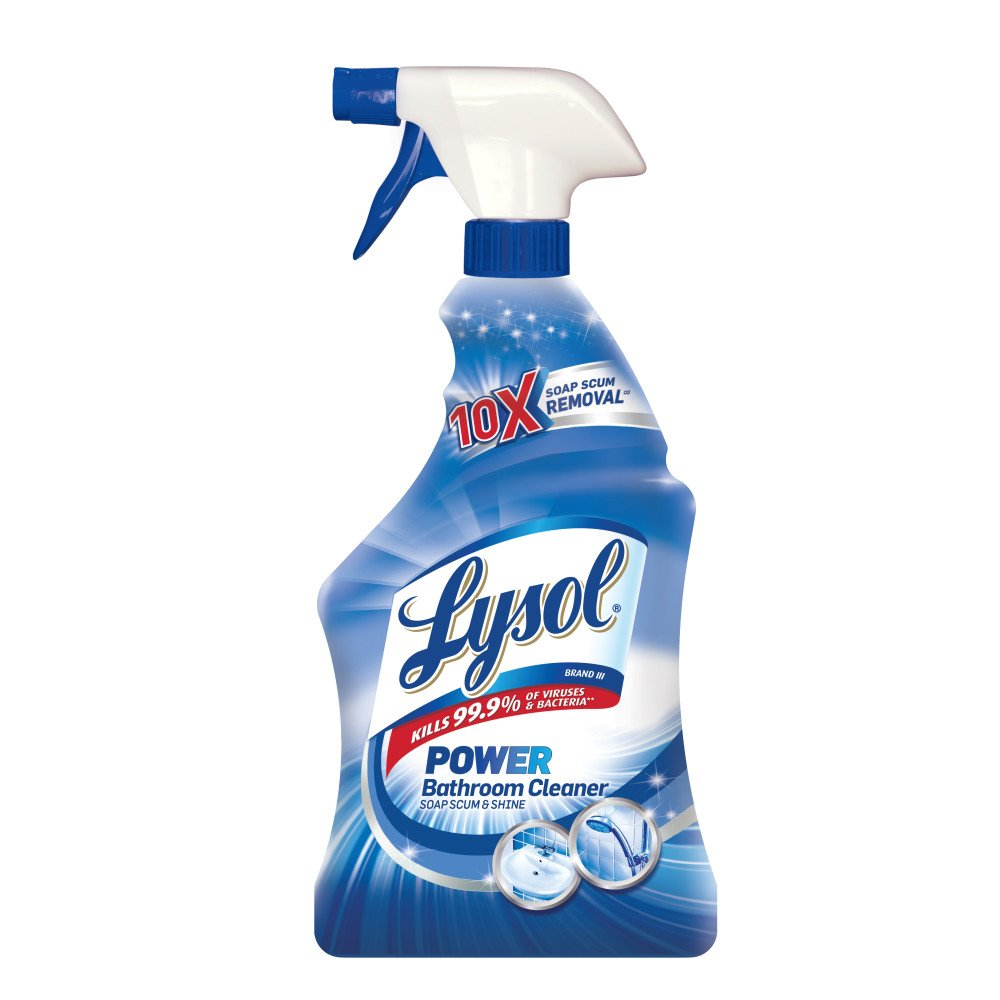 Lysol Power Bathroom Cleaner Spray, Powers Through Soap Scum, 28oz by Lysol