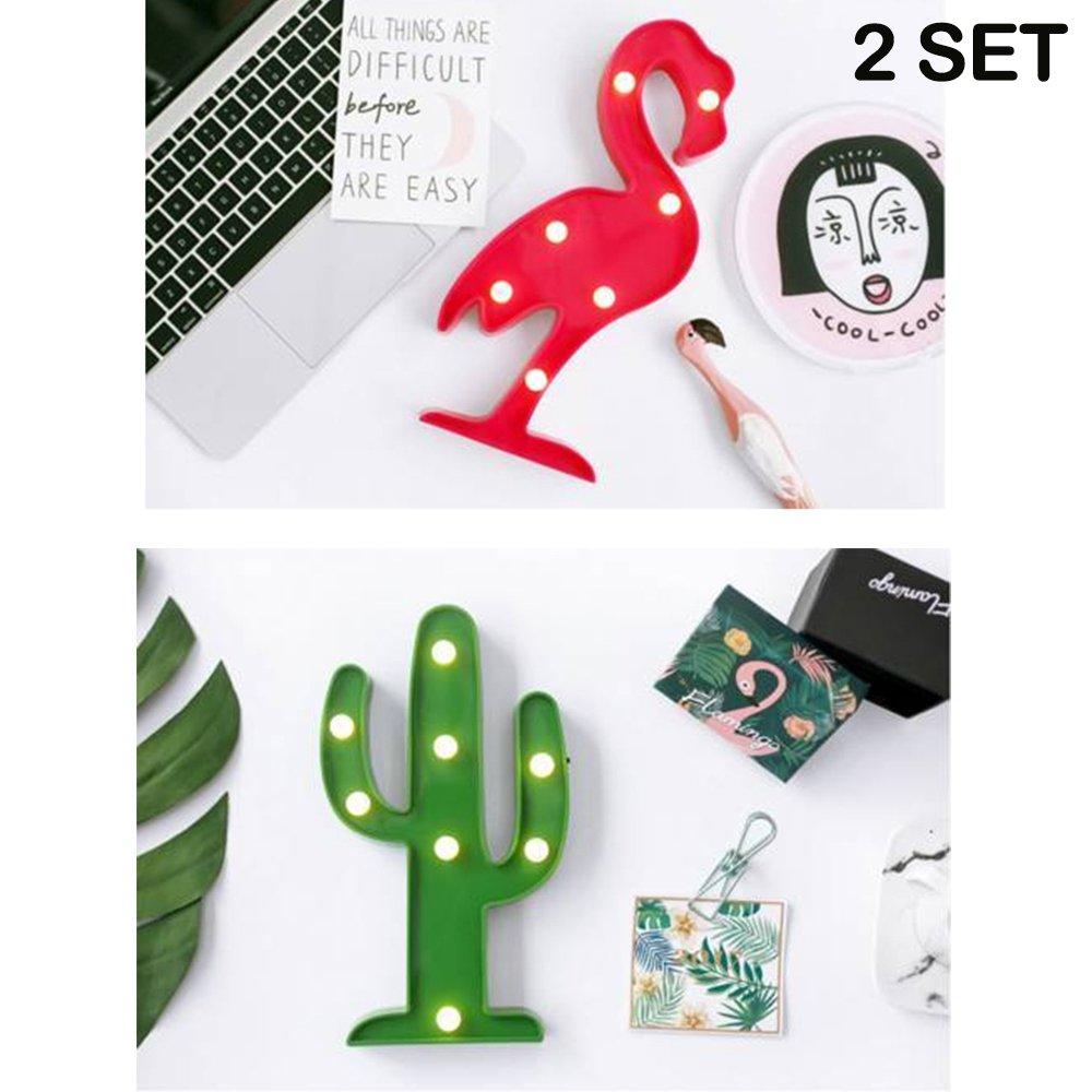 ZONYEO 3d führte dekorative wandleuchte flamingo & ananas: Amazon.de ...