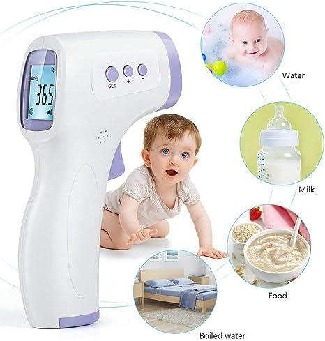 veloce e preciso verde Strumento di misurazione della temperatura a infrarossi senza contatto digitale fronte strumento di misurazione della temperatura gestione della salute degli adulti bambino