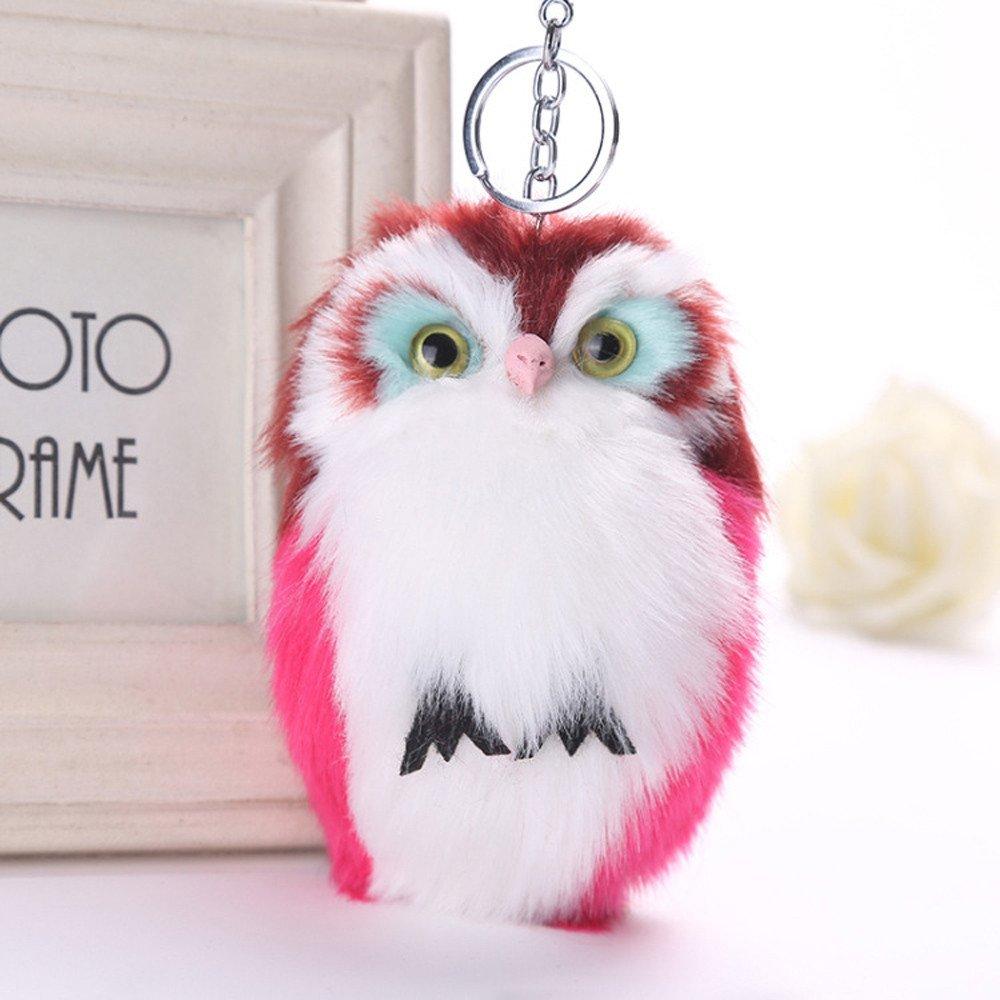 SUPPION Women Cute Furry Rabbit Keychain Bag Handbag Key Ring Car Jewelry
