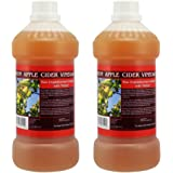 Apple Cider Vinegar Tonic with 'Mother' - 1000ml Natural Raw Unfiltered Plastic Bottle - 2 Pack