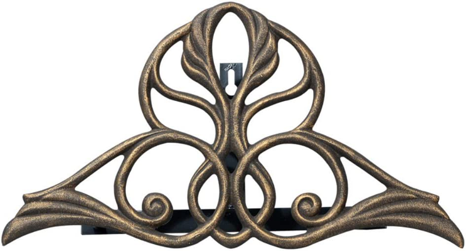 Whitehall Products Victorian Aluminum Hose Holder 00469, 18.5 inches wide by 9.5 inches high, Oil Rubbed Bronze
