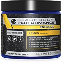 Beachbody Energize -Pre-Workout Formula | Improve Your Focus. Train Longer. Perform Better | 40 Servings