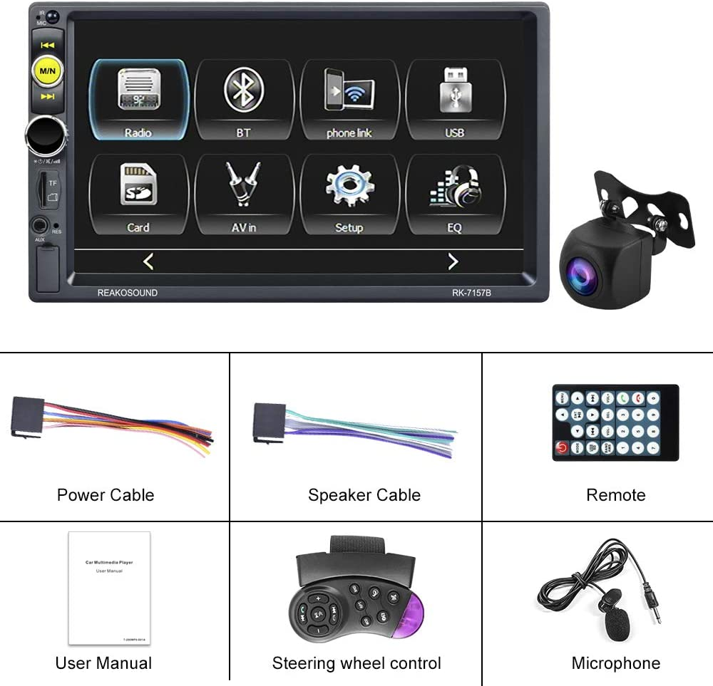 ghdonat.com UNITOPSCI Car Stereo Double Din Car Radio with 7 Inch ...