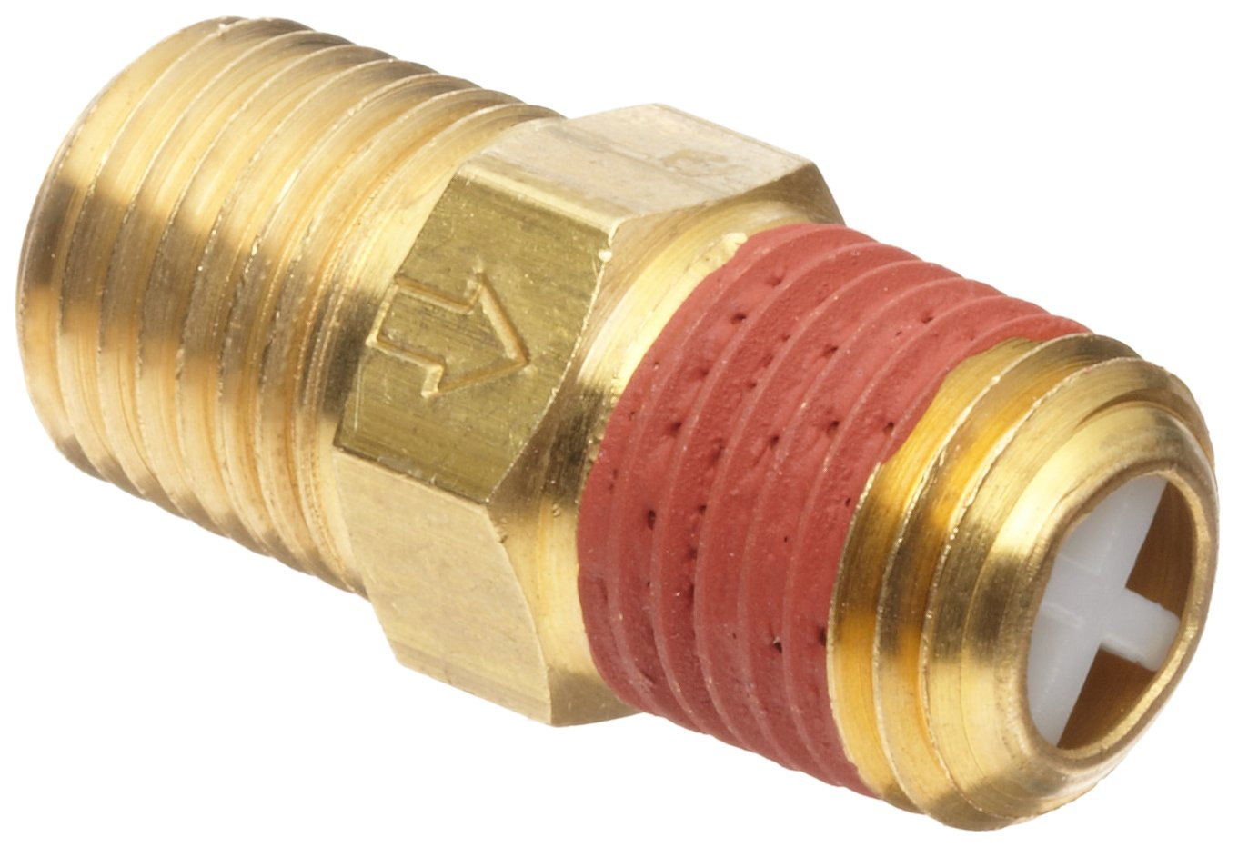 """Control Devices Brass Ball Check Valve, 1/4"""" NPT Male"""