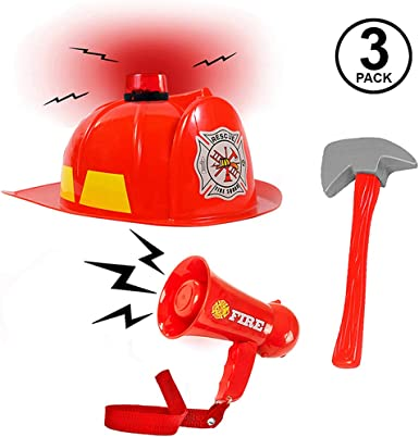 Child Halloween Pretend Role Play Toy Fireman Police Man Dress Up Clothes /& ACCS