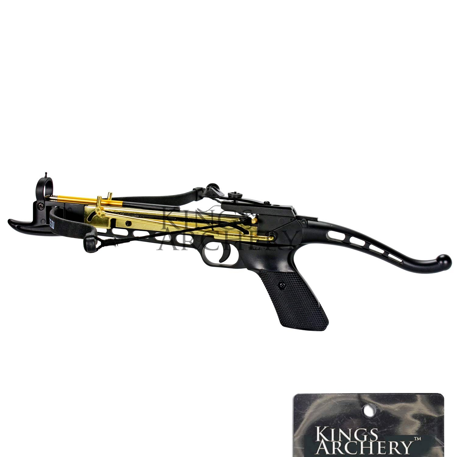 Crossbow Self-Cocking 80 LBS by KingsArchery® with Hunting Scope, 3 Aluminium Arrow Bolts, and Bonus 120-pack of Colored PVC Arrow Bolts + KingsArchery® Warranty by KingsArchery (Image #3)