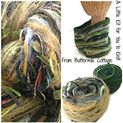 Boutique Yarn Cowl Knitting Kit Green