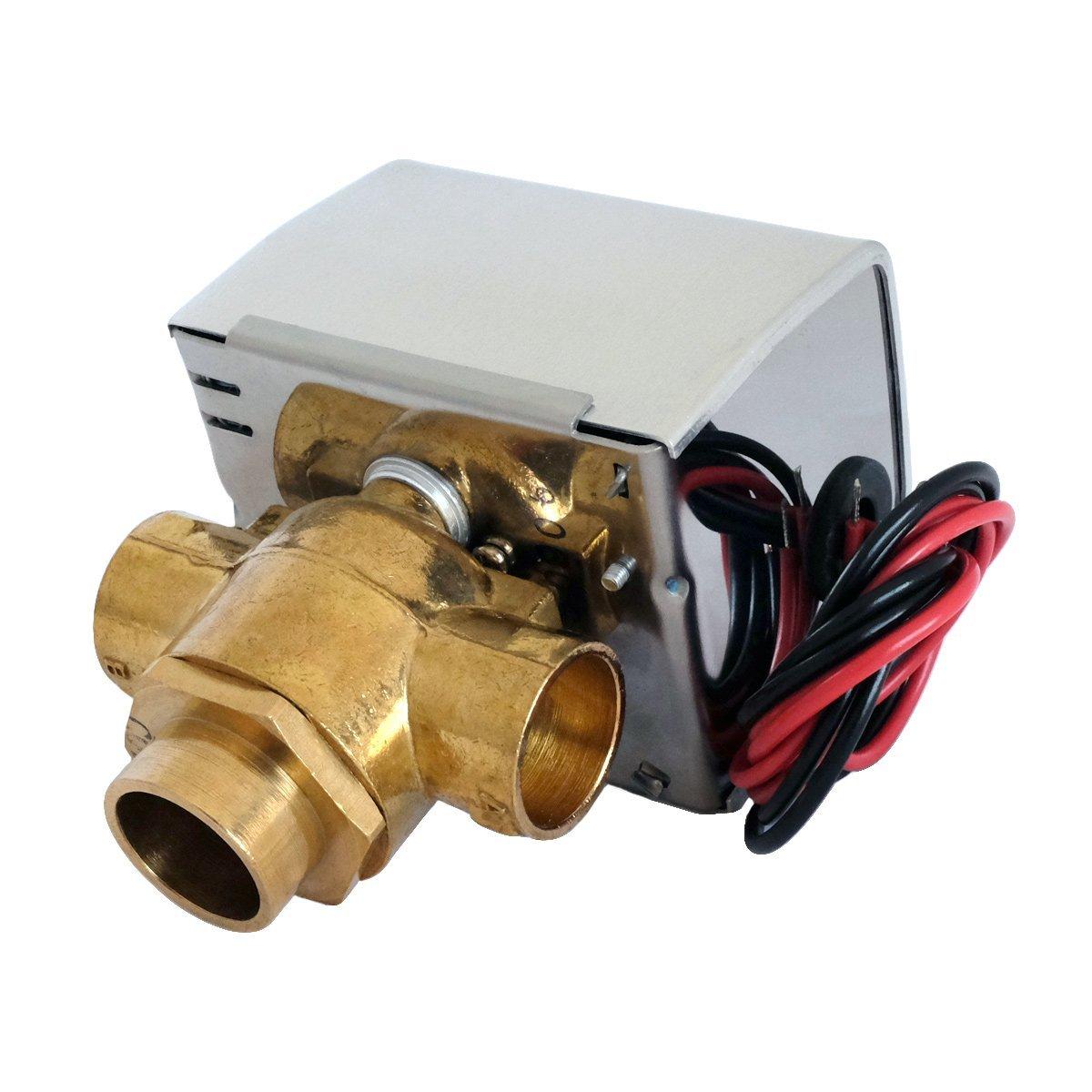 Valemo V3313-A1S Motorized Zone Valve, 3-way 3/4'', Sweat, 24 VAC with End Switch by Valemo Controls (Image #2)