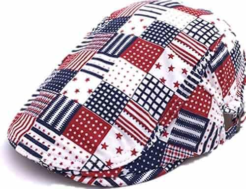eaa452267581c DaShanRen Men and Women Red Plaid newsboy Caps Cotton Flat IVY Driving Hat