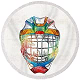Pixels Round Beach Towel With