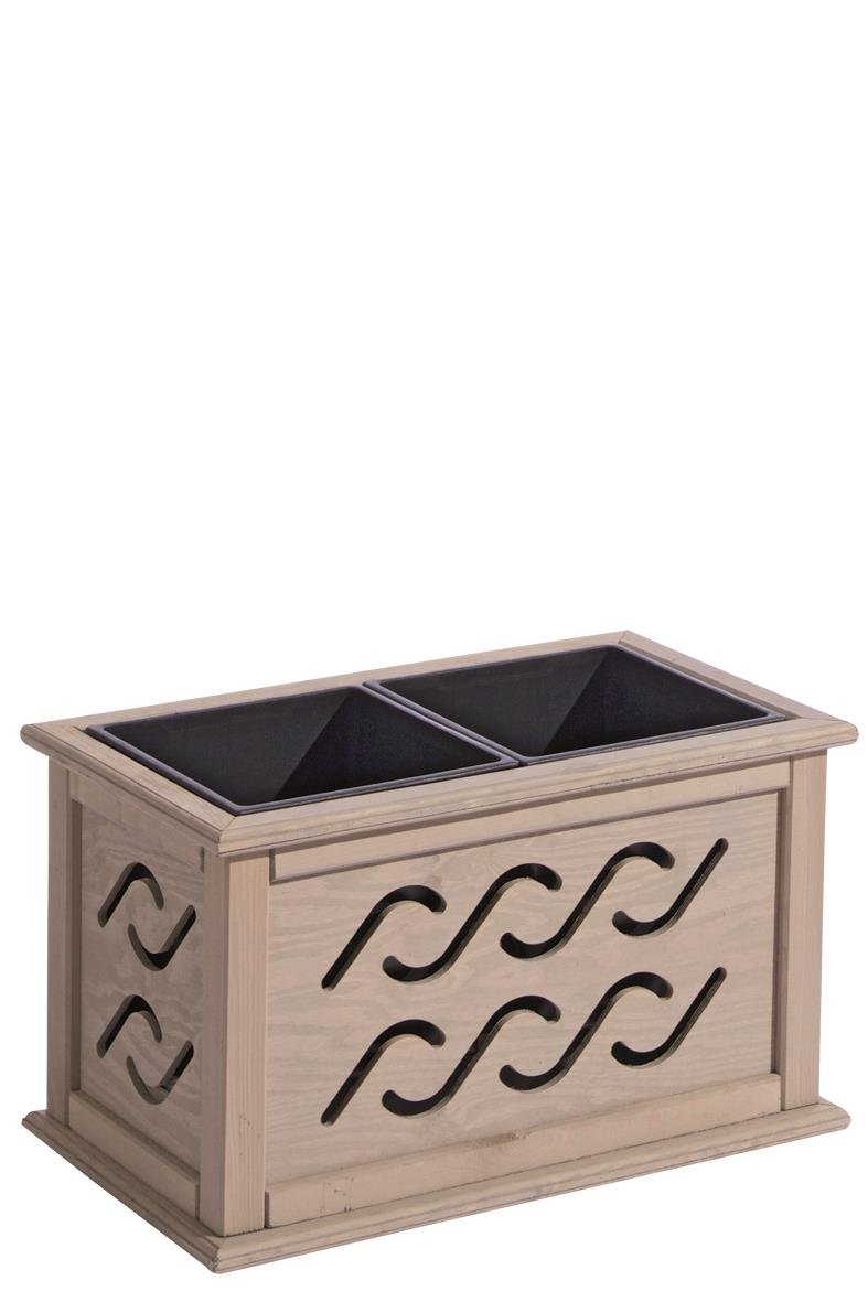 Dimplex Blumenkasten Ben inkl. Einsatz sandton lasiert 38 x 67 x 40 cm