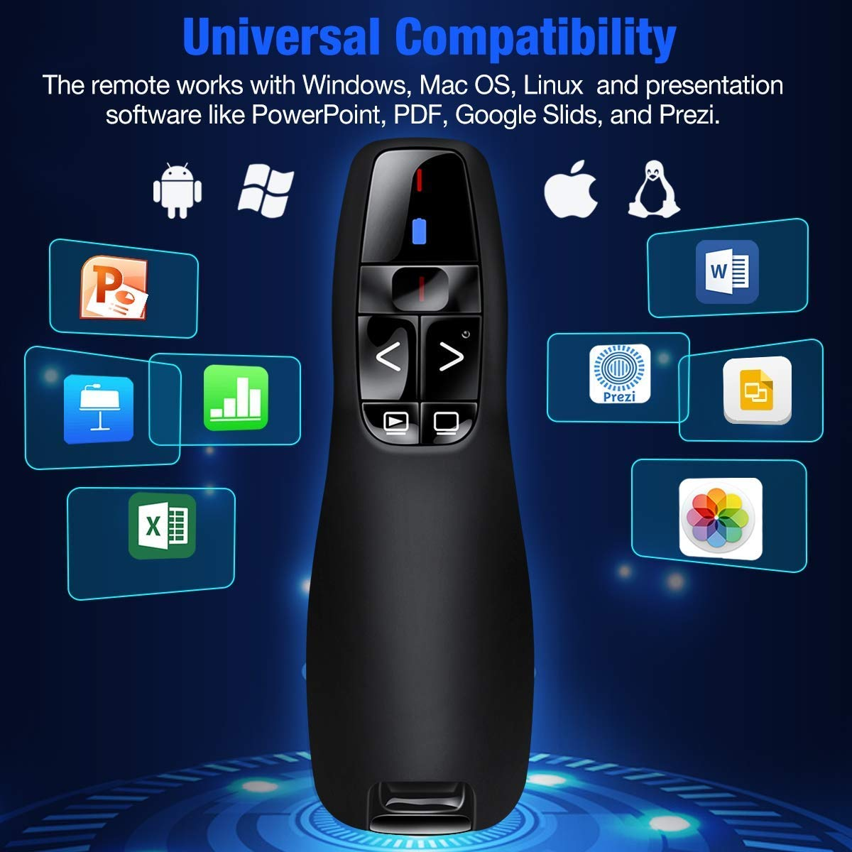 Supreme Deals® Latest Wireless Laser Powerpoint PPT Presenter Slide Changer Controller with USB Receiver Battery Indicator for Windows Mac PC Battery Included- 2 Year Warranty (B07XTFWS2P) Amazon Price History, Amazon Price Tracker