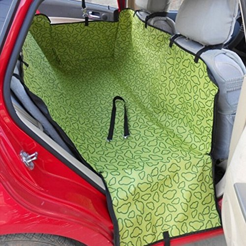 Green Pet Dog Cat Rear Back Seat Cover Hammock Blanket Cover Mat Cushion Adjustable
