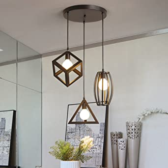 Stoex Suspension Luminaire Vintage Cage Metal Lustre Industriel 3