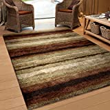 "Orian Rugs Striped Rural Road Multi Area Rug (5'3"" x 7'6"")"
