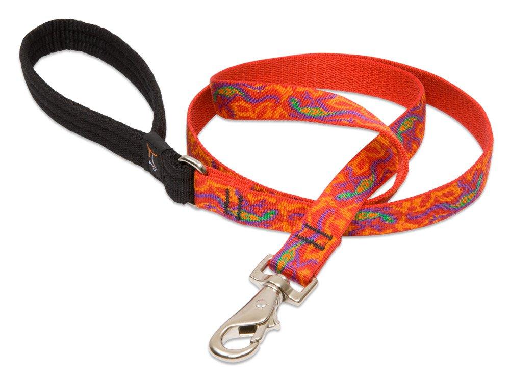 6-Feet Lupine Go Go Gecko Padded Handle Dog Lead, 6-Feet