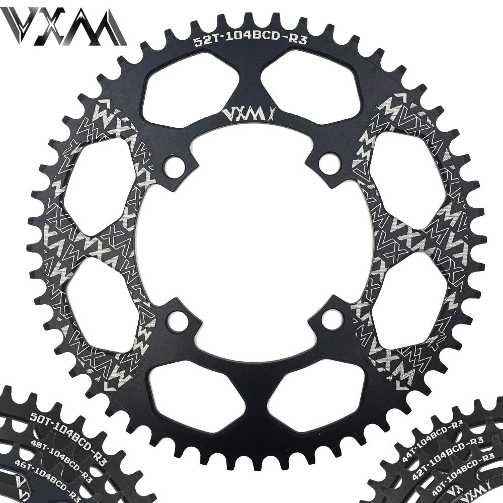 Propenary - Bicycle Aluminum Chainring 104BCD 40T 42T 44T 46T 48T 50T 52T Mountain Bicycle Chainwheel Bike Crankset Bicycle Parts [ 104BCD 52T ] B07M8FRQN3