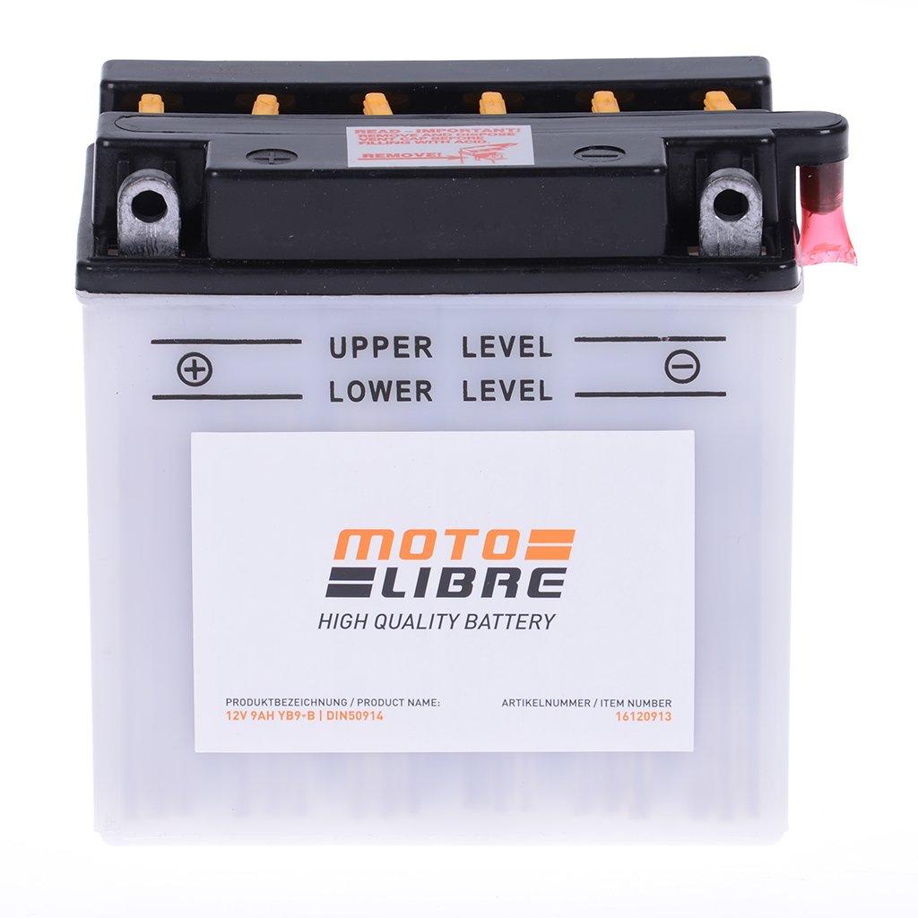 Batterie 12 V 9 AH YB9-B di piombo acido motolibre 50914 con Pack PIAGGIO NRG 50 C453 –  AC DT 05 –  15