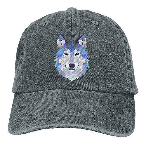 Cotton Denim Cap Baseball Hat Wolf Animals Six-Panel Adjustable Trucker Dad Hat