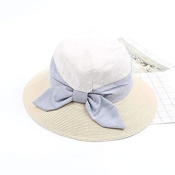 WGYXM Sombrero, Sombrero de Paja Plegable para Mujer, Traje ...