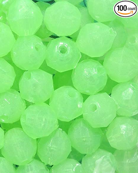 """Rigging Beads 100pcs 8mm Round Red 5//16/"""" Deep Drop Rigs Fishing Beads"""