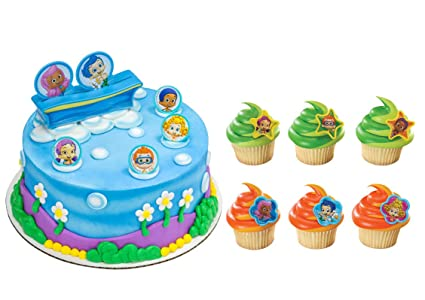Amazon.com: Bubble Guppies - Decoración para tarta con 24 ...