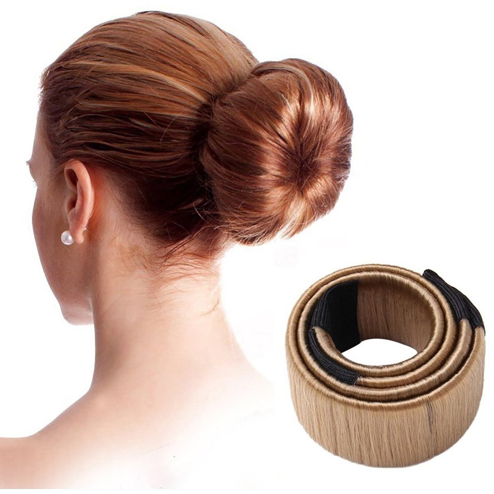 Dosige 1Pcs Women Hair Bun Hair Bun Maker Beauty Tool Girl Gift Band Twist Hair Fold Wrap Snap